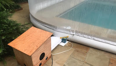 Water Tube Anchoring sample for a Pool Dome
