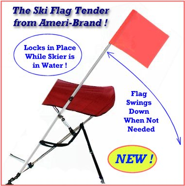 Ski Flag Tender Locks in place while skier is in the water; Easily swings up and down
