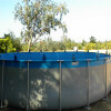 Pool with specially designed brackets for soft-side pools
