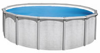 Above ground pool coverted to tank with potable white vinyl liner