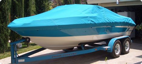 Semi Custom Boat Cover in 100% Marine Polyester