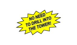 No drilling needed to mount to tower