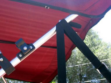 Ski Flag Tender - lowered and supported by strap webbing