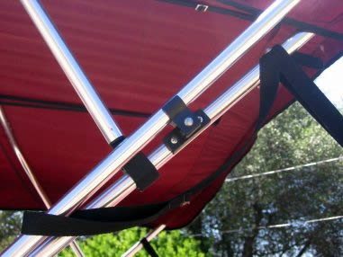 Ski Flag Tender - locked in bracket and in the up position
