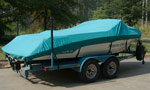 Custom Fit Sunbrella Boat Cover on Mastercraft Boat