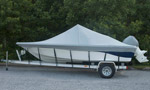 Semi Custom Fit Grey Boat Cover