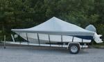 Semi Custom Fit Grey Boat Cover