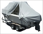 duel zippered hard top boat cover