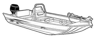 Aluminum modified V jon boat with high center console