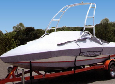 Boat cover price quote for a boat with ski or wakeboard tower