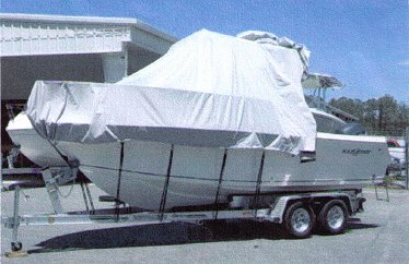 Marine polyester cover for Hard Top and T Top Boats