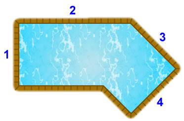 Lazy L (left) pool diagram