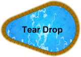 Tear Drop in-ground pool