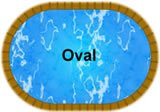 Oval in-ground pool