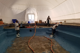 White Construction Dome - Begin work
