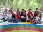 Group photo inside the play dome. More satisfied customers from the UK.
