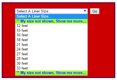 select a liner size