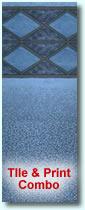 Blue Diamond vinyl sample for inground liners
