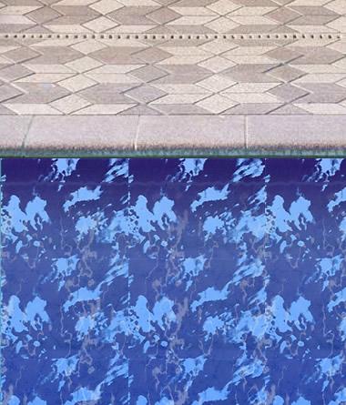 Sundial Border for Inground Pool Liner