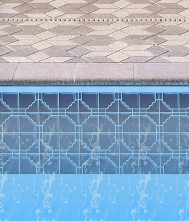 Cobalt Tile Border for Inground Pool Liner