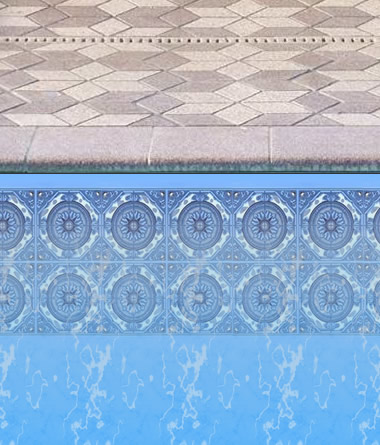 Sundial Border for Inground Pool Liner