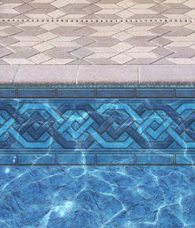 Brenton Braid Combo Liner in Inground Pool