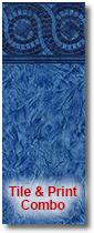 Covington Tile vinyl sample for inground liners
