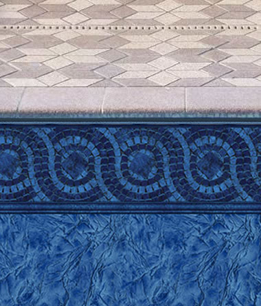 Covington Tile Liner in Inground Pool