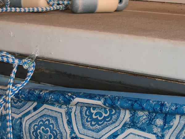 Inground pool liner repair cuts rips tears bead for Installing pool liner in cold weather