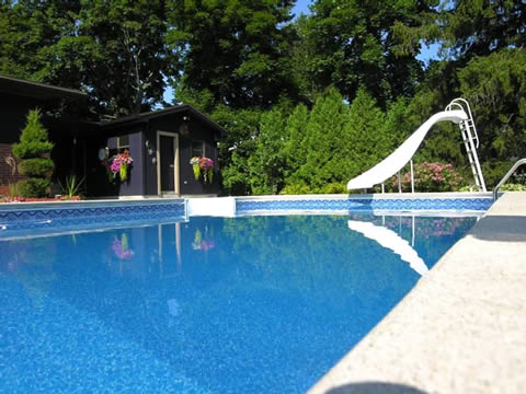 Inground pool liner photo album 3 for Cheap deep pools