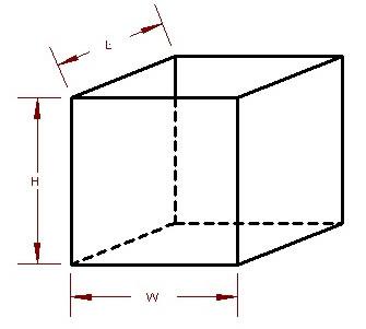 rectagular tank measurements