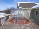 Fabrico Spa Enclosure on Snowy Deck