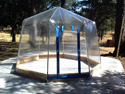 Fabrico Spa Enclosure on Cement Slab in Summer