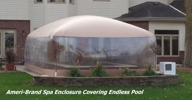 Spa Room Enclosure for endlass pool or swim spa