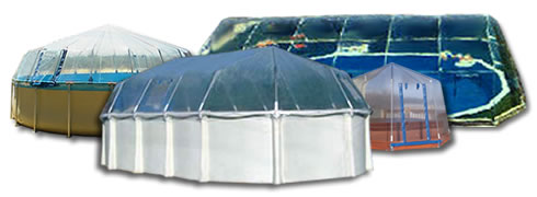 Fabrico Sun Dome Pool Covers Enclosures Vinyl Or Screen Spa Enclosures