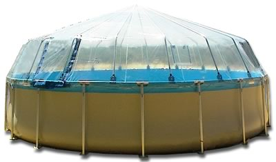 Above Ground Pool Dome for an Splash soft-side, vinyl liner pool