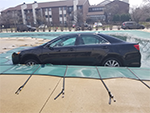 Inground Pool Cover Holding Wieght of a Car