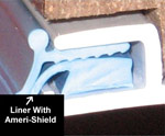Swimming Pool Liner in Track With Ameri-Shield