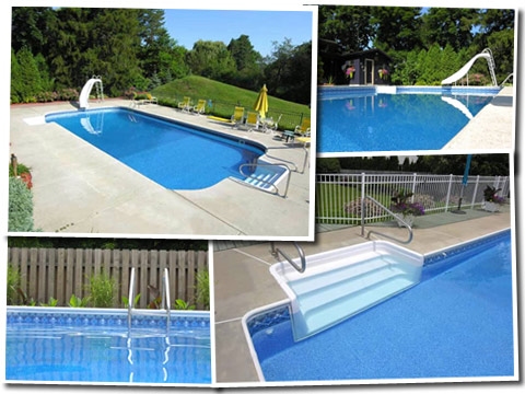 pool liner collage Cheap Pool Liners For Above Ground Pools