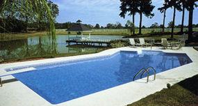 inground pool using vermiculite